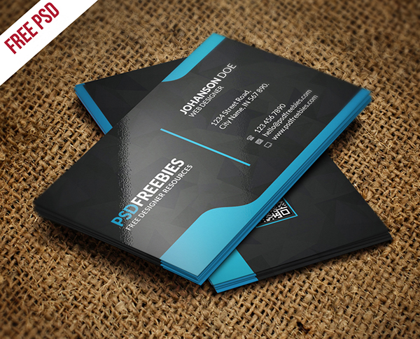 07 Free Graphic Designer Business Card Template PSD