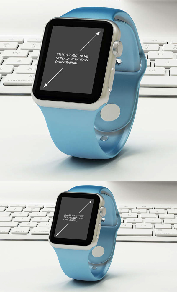 09 Free Apple Watch Mock-up PSD