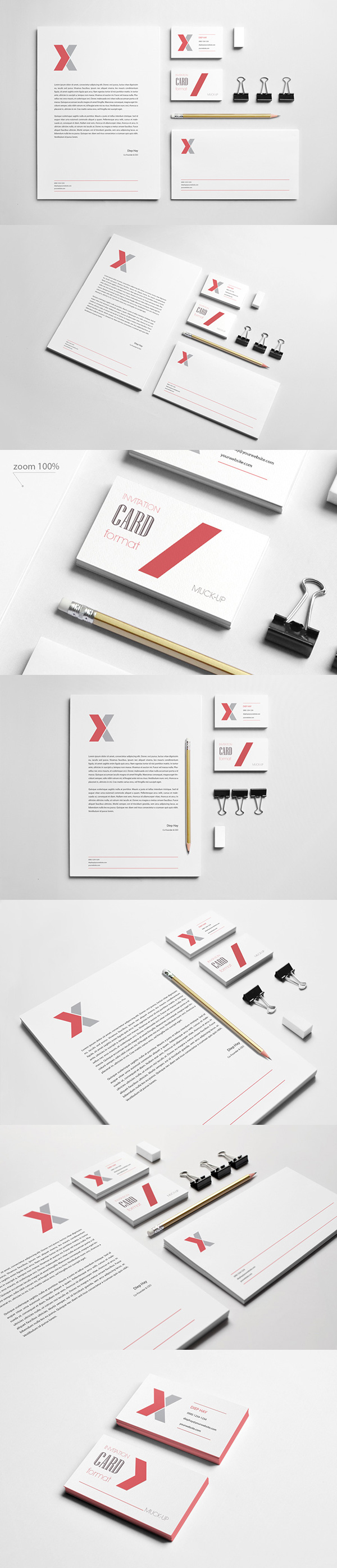 10 Branding : Stationery Mock-Up