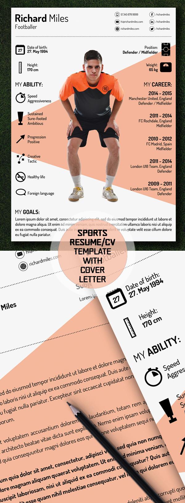 10 Free Sport Resume:CV Template