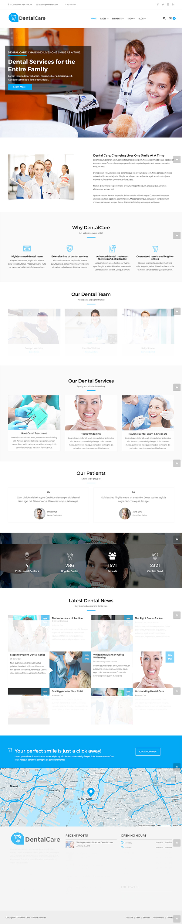 12 Dental Care - Dental & Medical WordPress Theme
