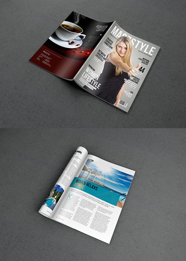 13 Free Photorealistic Magazine MockUp PSD