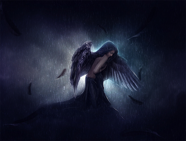 15 Sad Angel In Photoshop