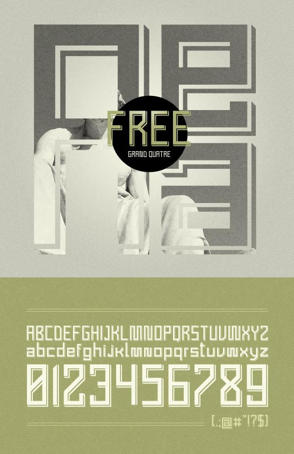 17 Grand Quatre Free Font
