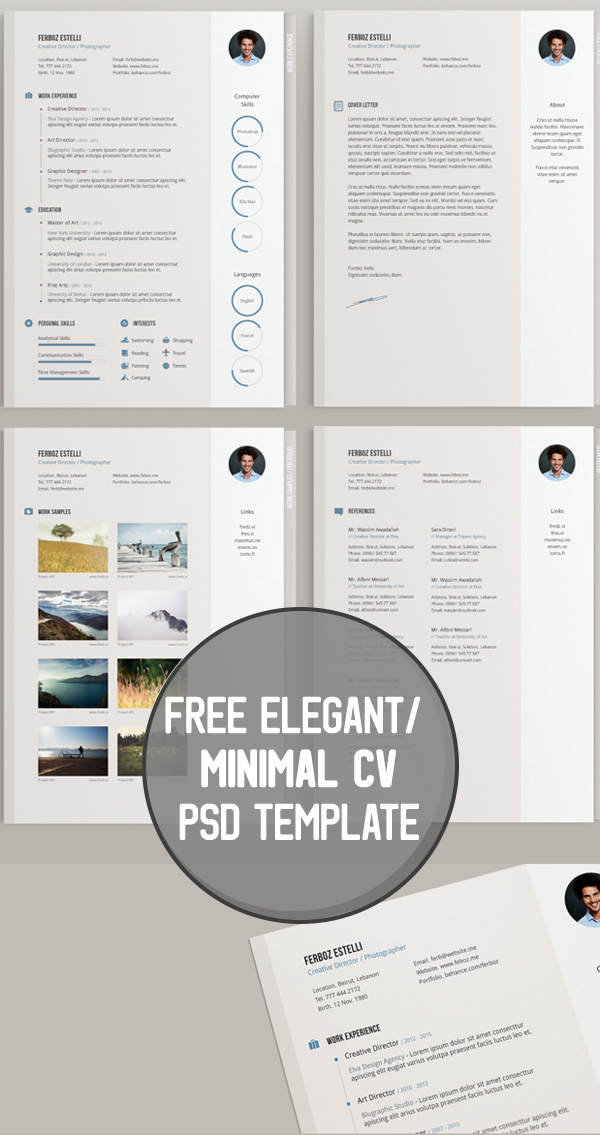 22 Free Elegant : Minimal Cv PSD Template