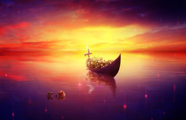 25 Vibrant, Fantasy Lake Scene