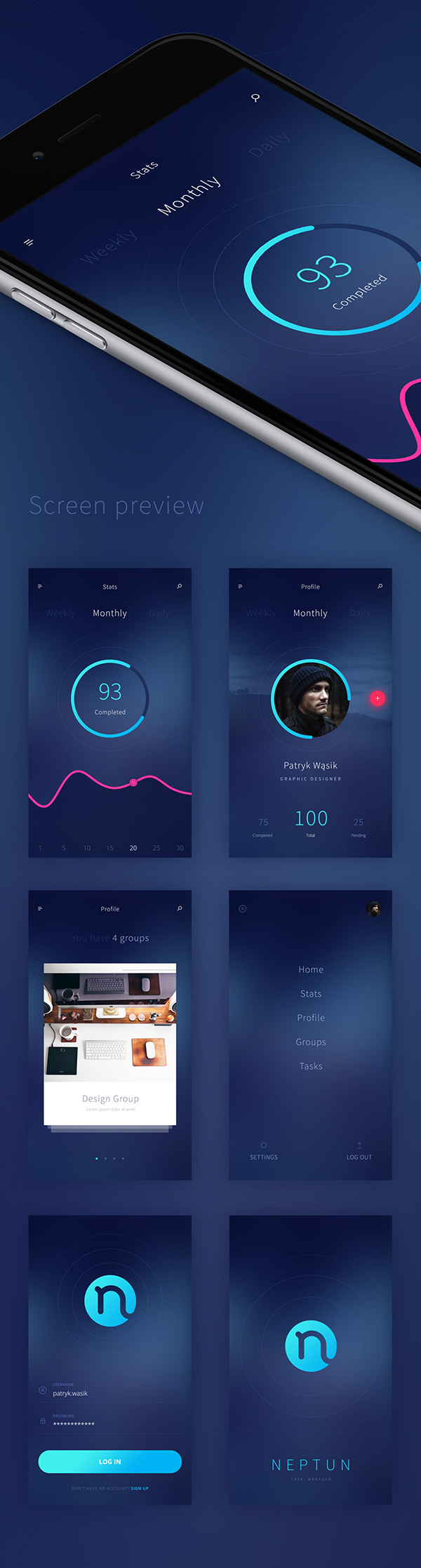 27 Free Neptun Mobile App PSD