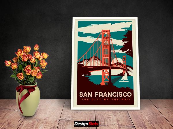Artwork Frame PSD Mockup Free Download | Design Slots