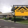 Roadside board Ad Placement Mockup PSD