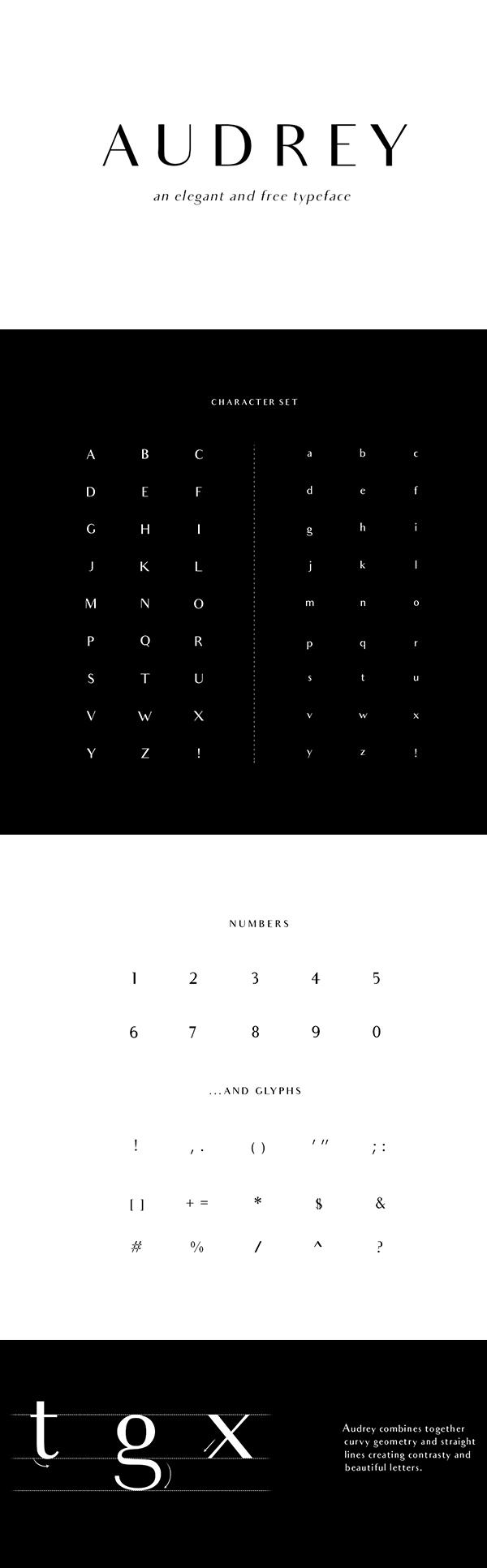 03 Audrey Free Font