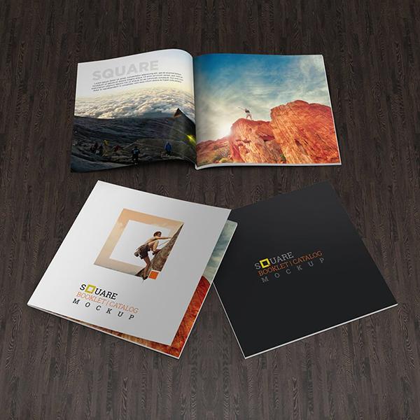 09 Square Book Mockup