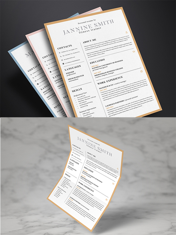 10 Clean Resume Template