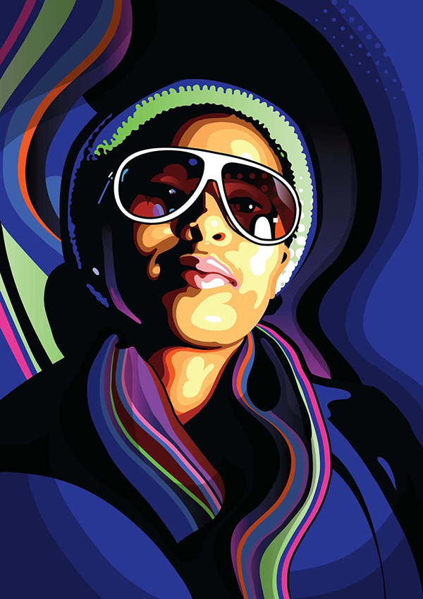10 Create stylish vector portraits