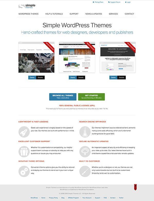 10 Simple Themes