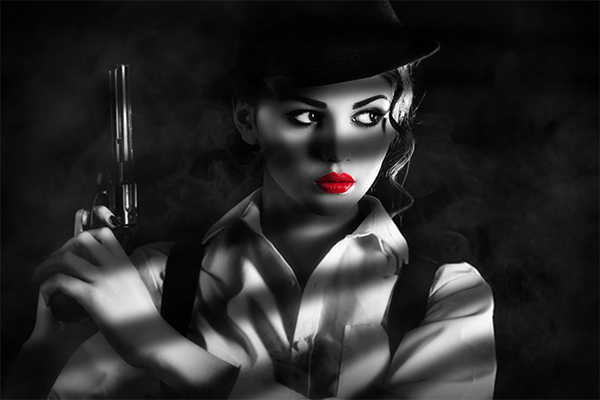 10 Sin City Style Film Noir Effect