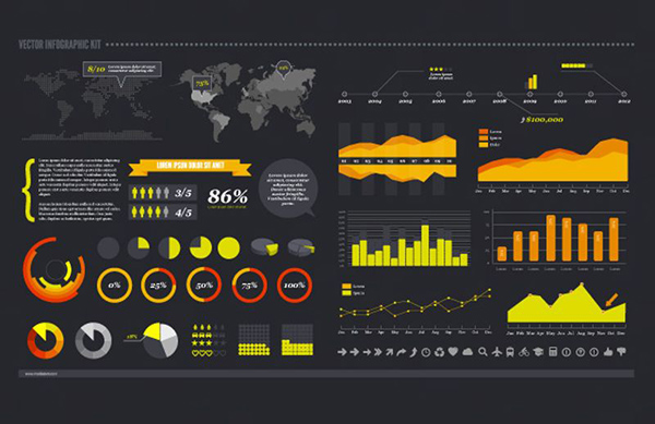 14 Free Vector Infographic Kit