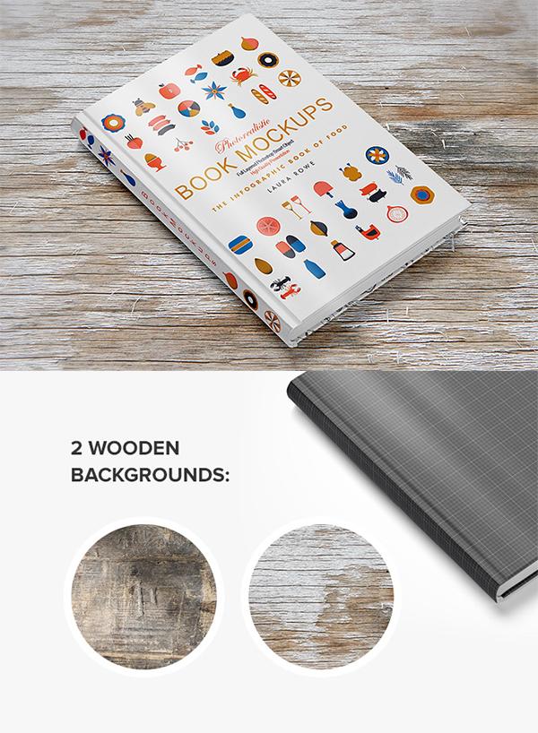 14 Hardback Book Mockup