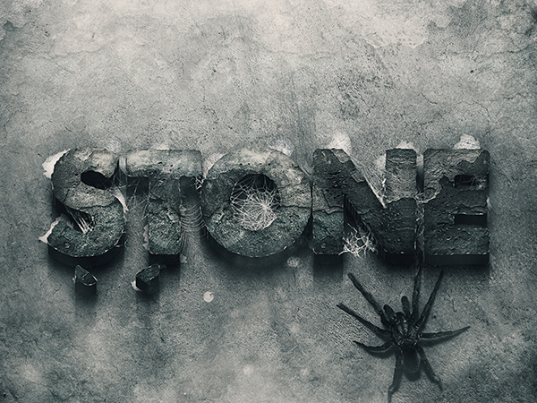 15 3d Stone Text Style