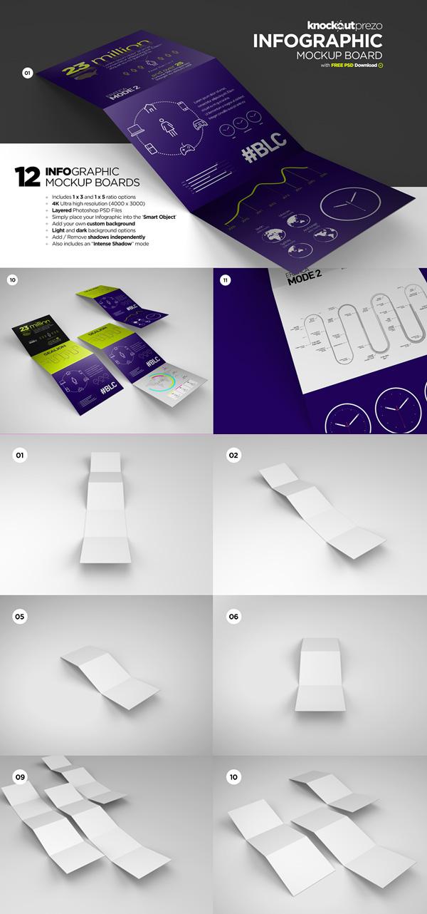 17 Free Infographic Mockup Board