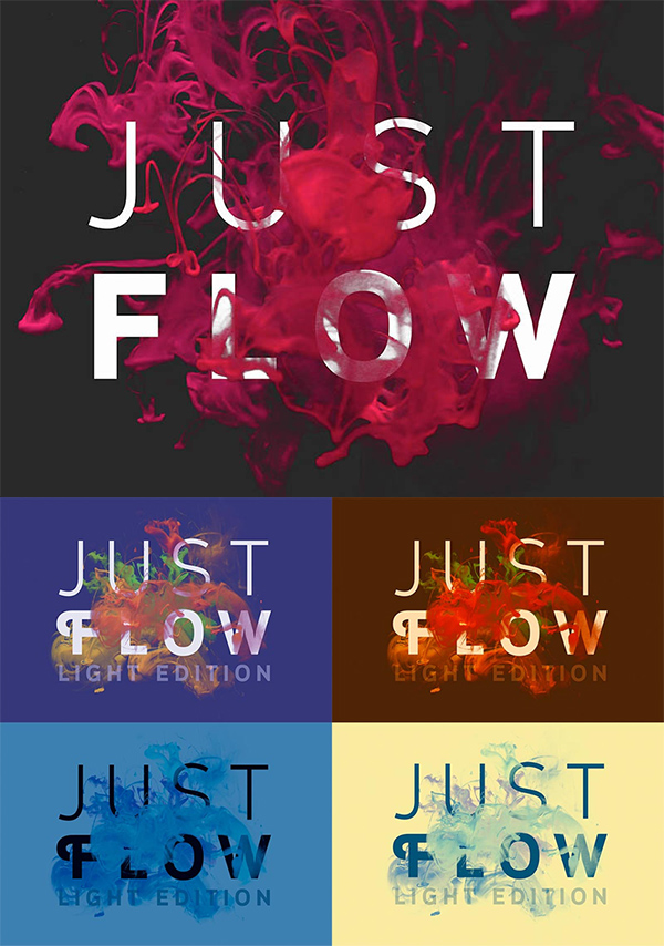 18 PSD mock-ups with color in water theme