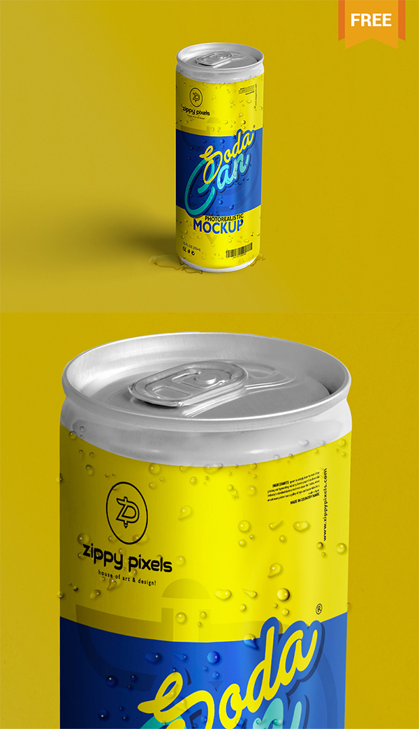 21 Soda Can PSD Mockup
