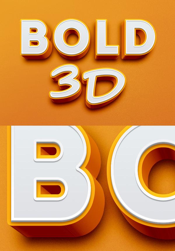 31 Bold 3D Text Effect