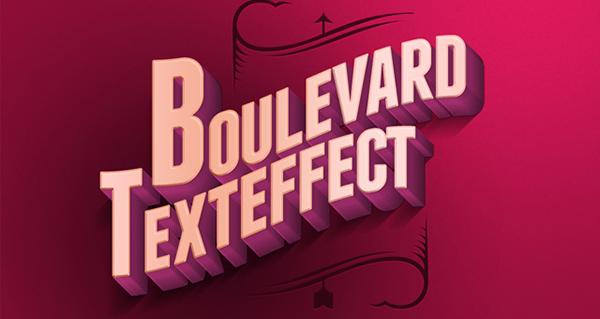 33 Psd Boulevard Retro Text Effect