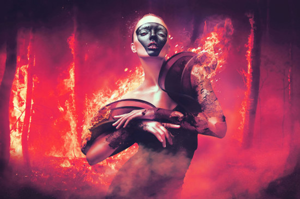 39 Create Burnt Lady Photo Manipulation In Photoshop