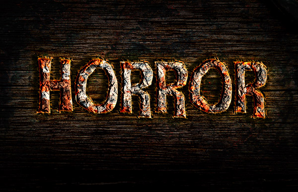 03 Create a Rusty Horror Text Effect in Photoshop