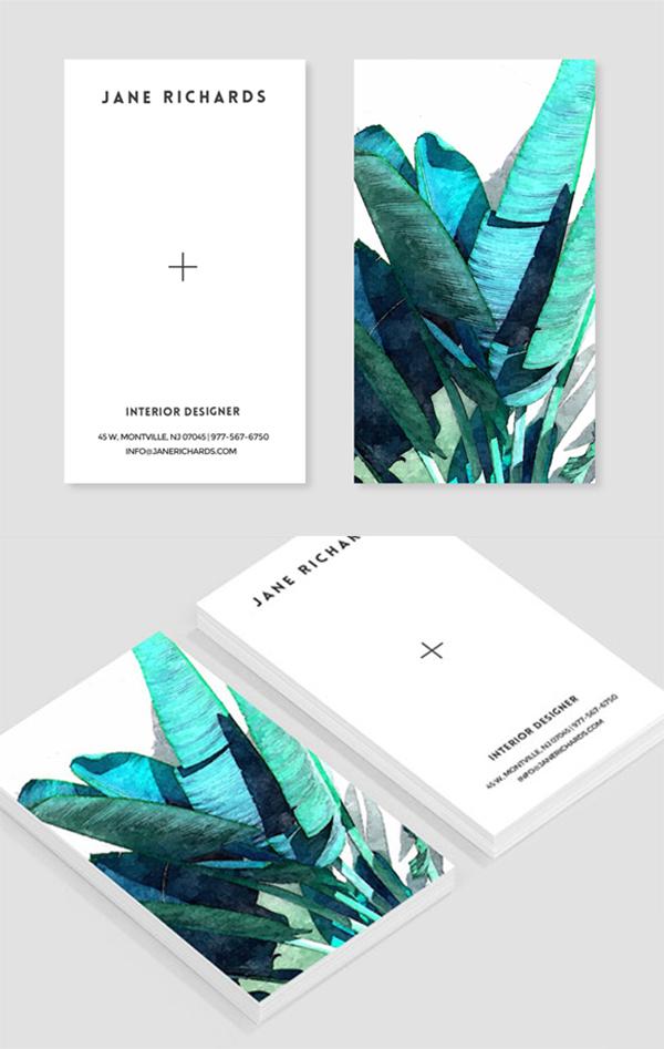 05 Banana Leaf Business Card Template