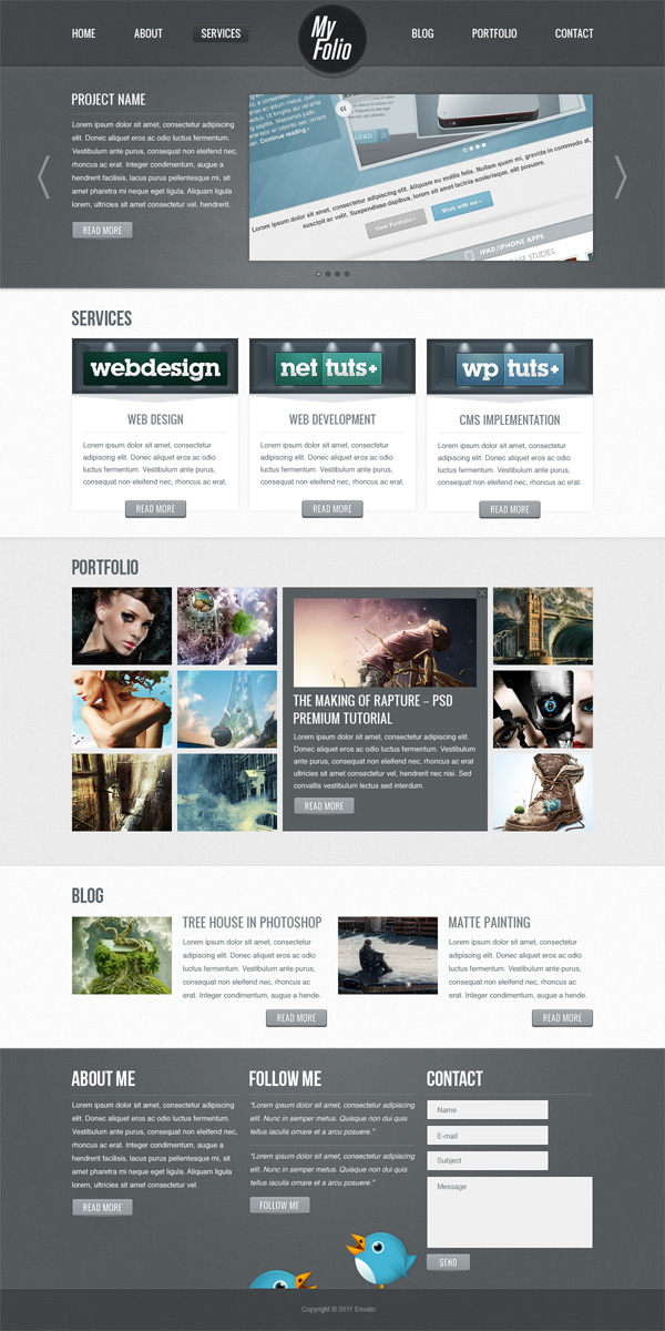 05 Create a Fabric Textured Web Layout Using Photoshop