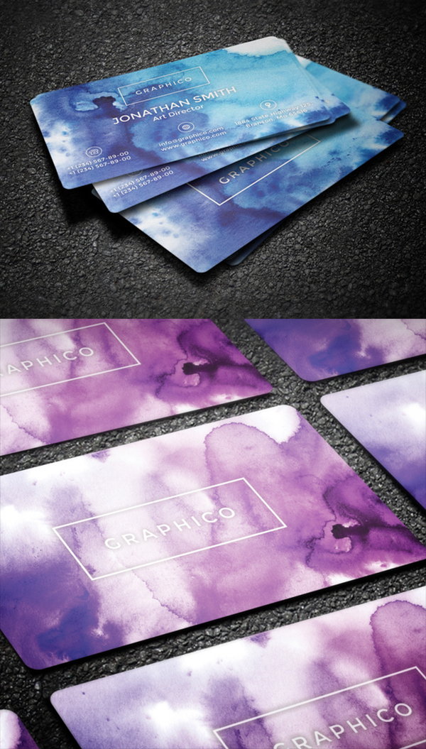 13 Simple Watercolor Business Card