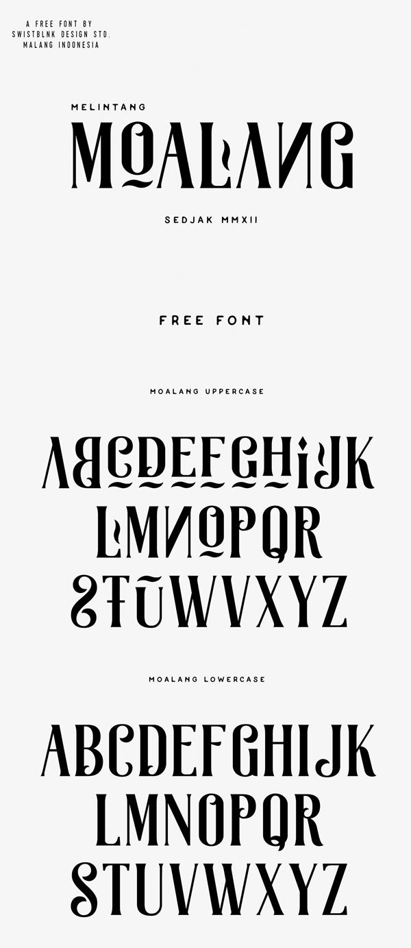 15 Moalang Free Font