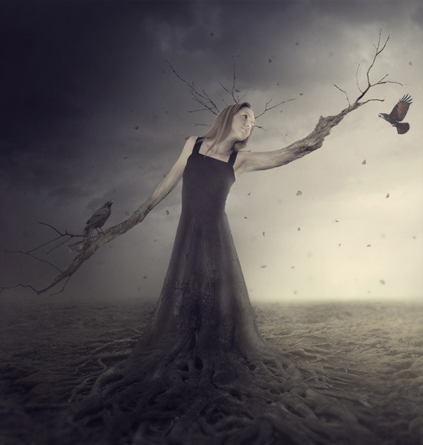16. Create a Fantasy Tree Woman Scene in Photoshop
