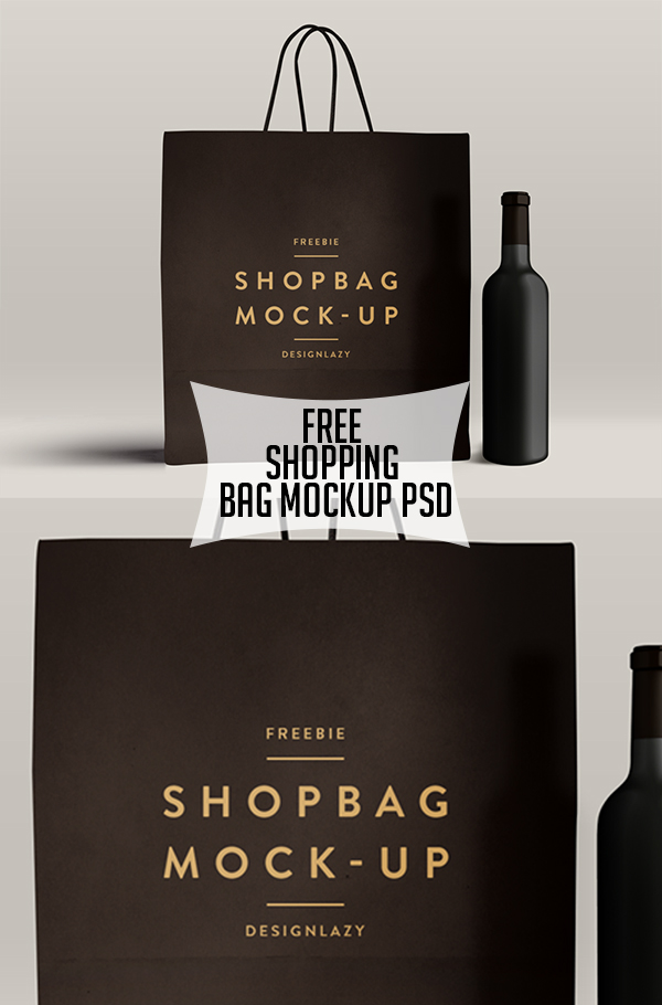 19 Free Shopping Bag Mockup PSD