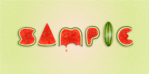 09 Use Brushes to Create a Watermelon Text Effect in Illustrator