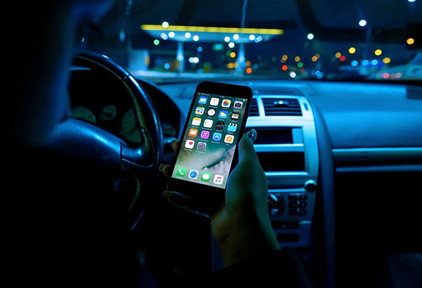 11 iPhone in Car Mockup