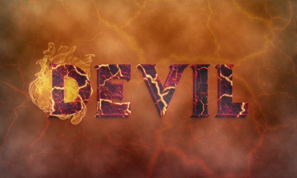 13 Create a Devilish 3D Text Effect in Photoshop