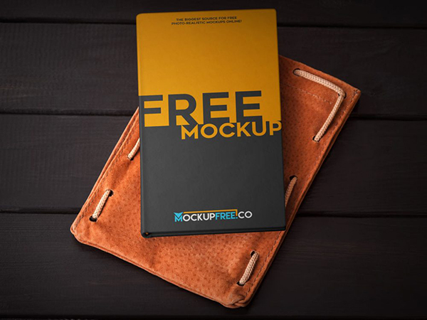 20 Hardcover Book with Leather Case Mockup