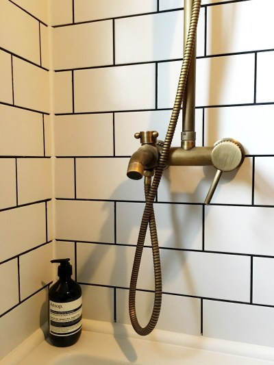 Bathroom decorating ideas inspiration patterned tiles vintage mid century Bathroom design and fitting wandsworth