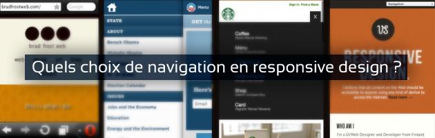 Quels choix de navigation en responsive design ?