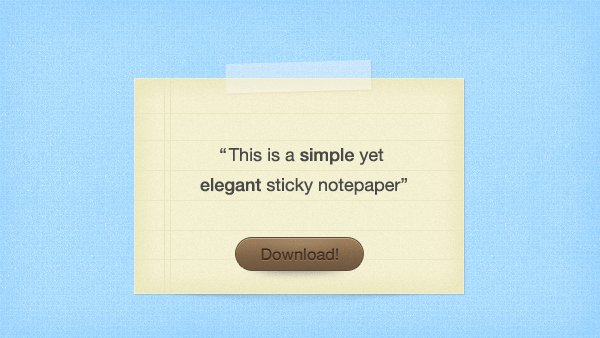 sticky-notepaper