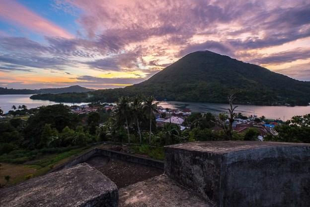 Bandaneira Sunset over Gunung Api