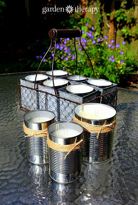 DIY Citronella Candles | Garden Therapy