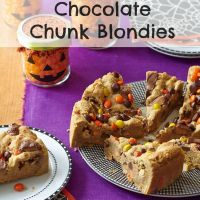 Halloween Treats - Peanut Butter-Chocolate Chunk Blondies