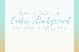 How to Create a CSS ombre gradient blog background. Another simple tutorial from DesignYourOwnBlog.com