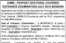 AIIMS PG May 2014 exam notification out