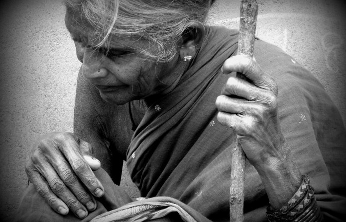 picture of an old indian women
