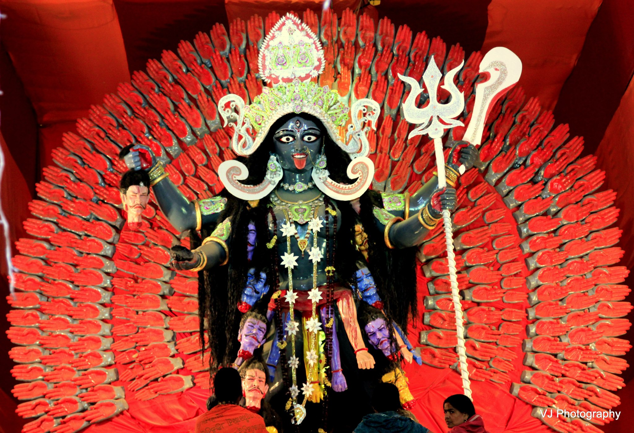 Kali Mata idol at Kumbh Mela