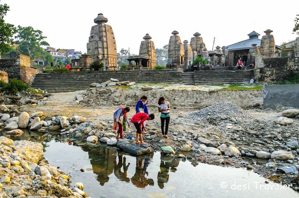 baijnath temple kumaon river bank